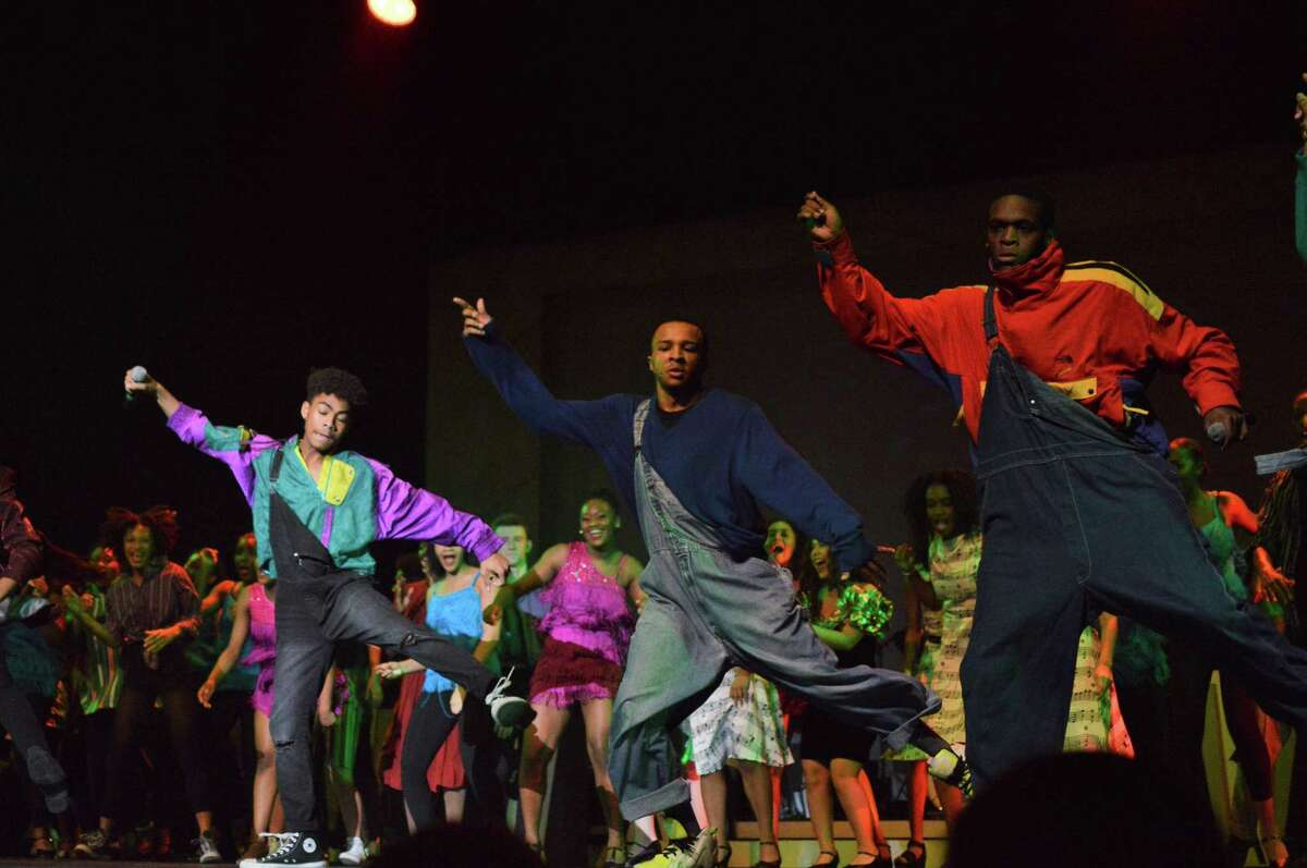 """Student performers at HSPVA perform a tribute to New Edition at the show, """"At the Apollo,"""" 2018"""
