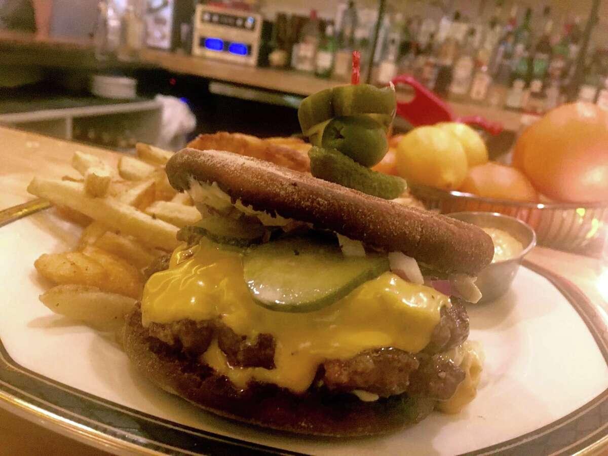 The burger at Nancy's Hustle