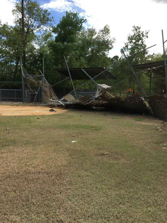 Hurricane Harvey destroyed the Kingwood/Forest Cove Little League fields Photo: Twila Carter, Astros Foundation