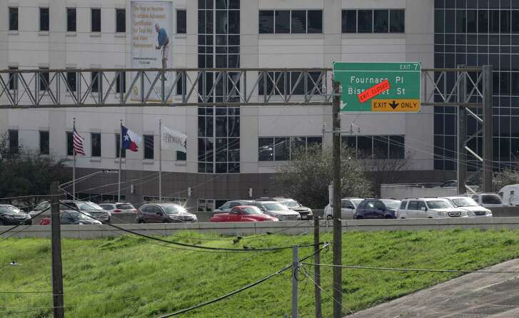 The exit for Fournace Place is closed on Feb. 27 in Bellaire. Texas Department of Transportation officials said the exit is expected to reopen in summer 2020.