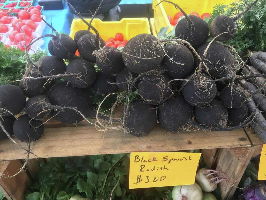 Black Spanish radishes are one of many root vegetables in season right now. Photo: Chuck Blount /San Antonio Express-News