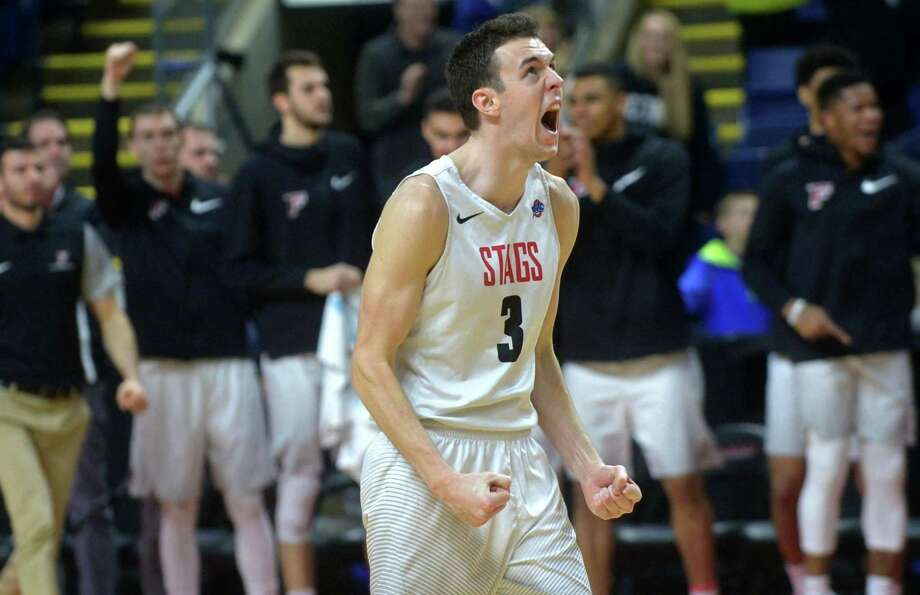 Fairfield's Tyler Nelson enters Thursday night's game against Marist in the MAAC tournament with 2,073 career points, the most in program history. Photo: Erik Trautmann / Hearst Connecticut Media / Norwalk Hour