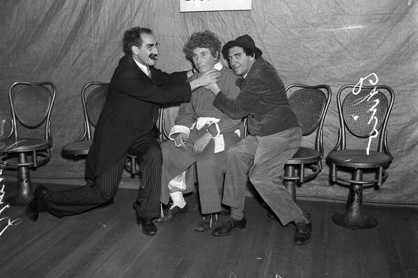 Groucho marx Harpo Marx and Chico Marx here in san Francisco  August 18, 1936