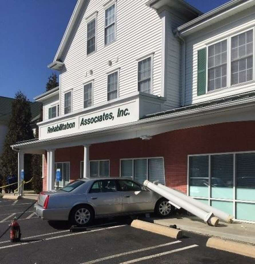 Physical rehabilitation facility hit by vehicle in Milford Photo: Courtesy Of Anthony Fabrizi