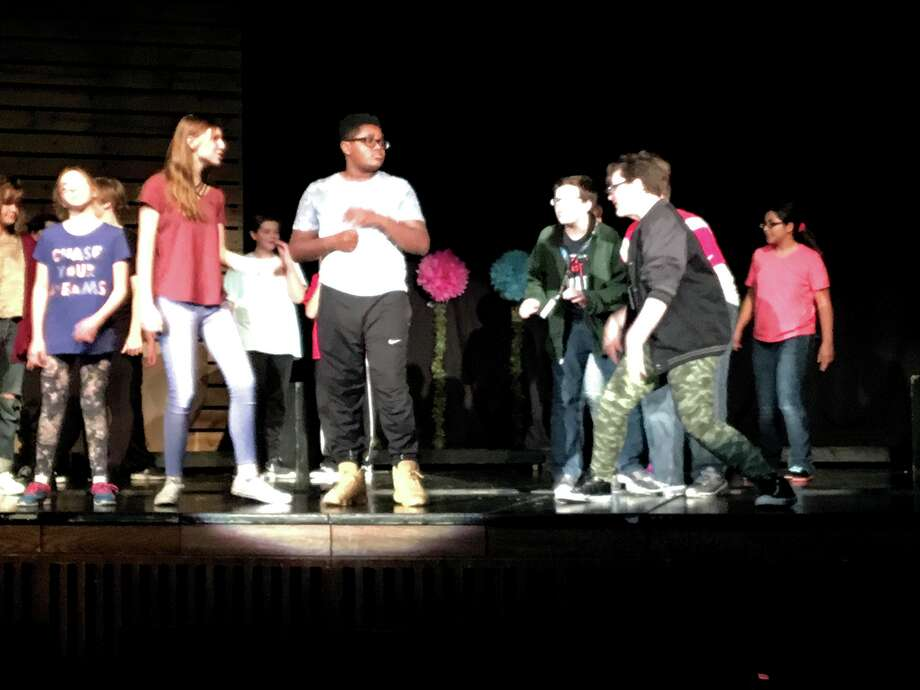 "Members of Lincoln Middle School's Act 1 Drama Club rehearse in preparation for their performance of ""Seussical, Jr. The Musical."" The play, which is open to the public, will be performed at 7 p.m. Friday  and 7 p.m. Saturday at the Lincoln School Auditorium. Tickets are available for $5 at the main office in advance or at the door the night of the shows. Photo: John Sommerhof • Jsommerhof@edwpub.net"