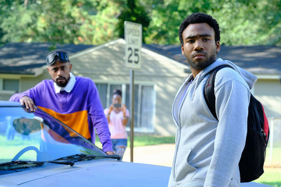 """ATLANTA -- """"Alligator Man"""" -- Season Two, Episode 1 (Airs Wednesday, March 1, 10:00 p.m. e/p) Pictured: Lakeith Stanfield as Darius, Donald Glover as Earnest Marks. CR: Guy D'Alema/FX Photo: Credit: Guy D'Alema/FX / Copyright 2018, FX Networks. Credit: Guy D'Alema/FX."""