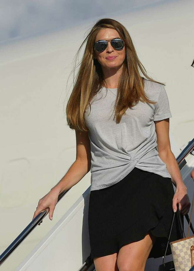 Hope Hicks, a Greenwich public relations figure who is a long-time aide to President Donald Trump, resigned Wednesday as the White House communications director. Photo: MANDEL NGAN / AFP /Getty Images / AFP or licensors