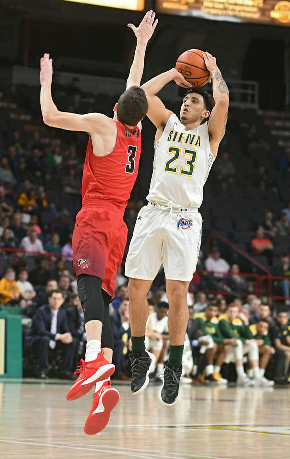Siena's Jordan Horn will be one of four Saints freshmen dressing for their first college postseason game on Thursday. (Lori Van Buren/Times Union)