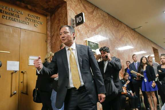 San Francisco Public Defender Jeff Adachi leaves the courtroom following the arraignment of Juan Francisco Lopez-Sanchez, at the Hall of Justice in San Francisco, Calif. on Tues. July 7, 2015.