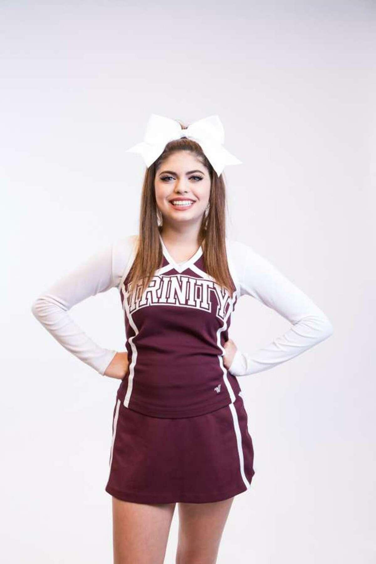 Cayley Mandadi, Trinity University cheerleader.