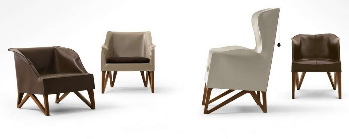 Giorgetti's beautiful leather Mobius chairs start at $2,600.
