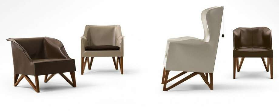 Giorgetti's beautiful leather Mobius chairs start at $2,600. Photo: Giorgetti