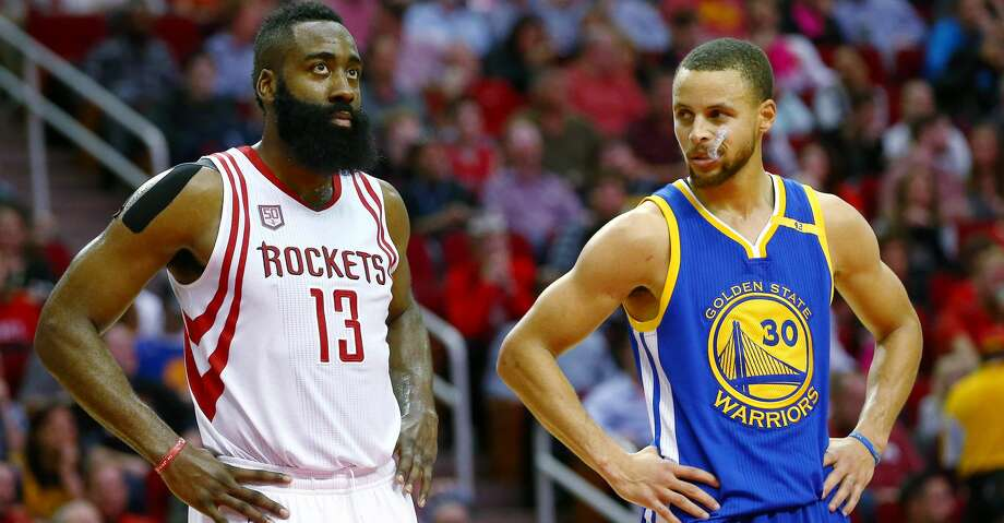 James Harden and Stephen Curry will meet with a spot in the Finals on the line. Photo: Jon Shapley/Houston Chronicle