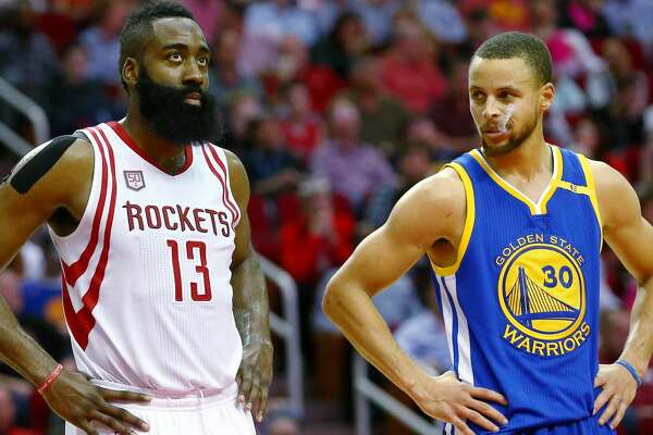 173a42c92100 1of3James Harden and Stephen Curry will meet with a spot in the Finals on  the line. Photo  Jon Shapley Houston Chronicle