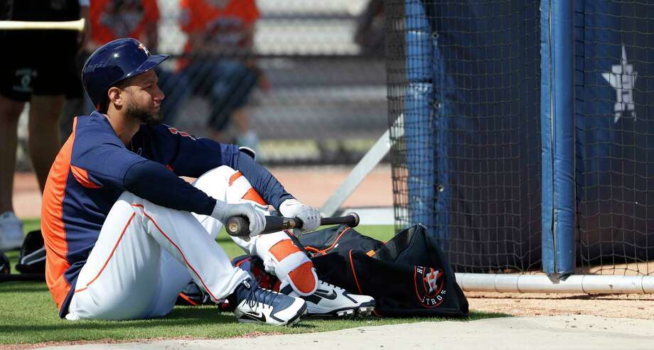 Due to his surgery and a suspension he'll have to serve once he's activated, Yuli Gurriel will sit out the season's first 17 games or so. Photo: Karen Warren, Staff / © 2018 Houston Chronicle