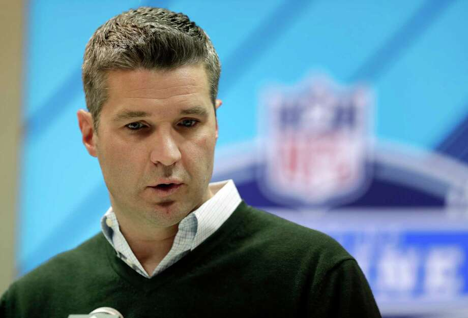 Houston Texans general manager Brian Gaine speaks during a press conference at the NFL Combine in Indianapolis, Wednesday, Feb. 28, 2018. (AP Photo/Michael Conroy) Photo: Michael Conroy, STF / Copyright 2018 The Associated Press. All rights reserved.