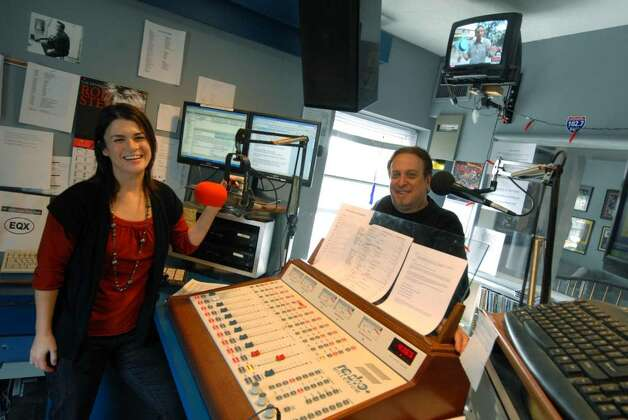 WEQX 's Amber Miller and  Willobee at the station's studios in Manchester, Vermont, 11/04/2009. (Michael P. Farrell / Times Union) Photo: MICHAEL P. FARRELL / 00006237A