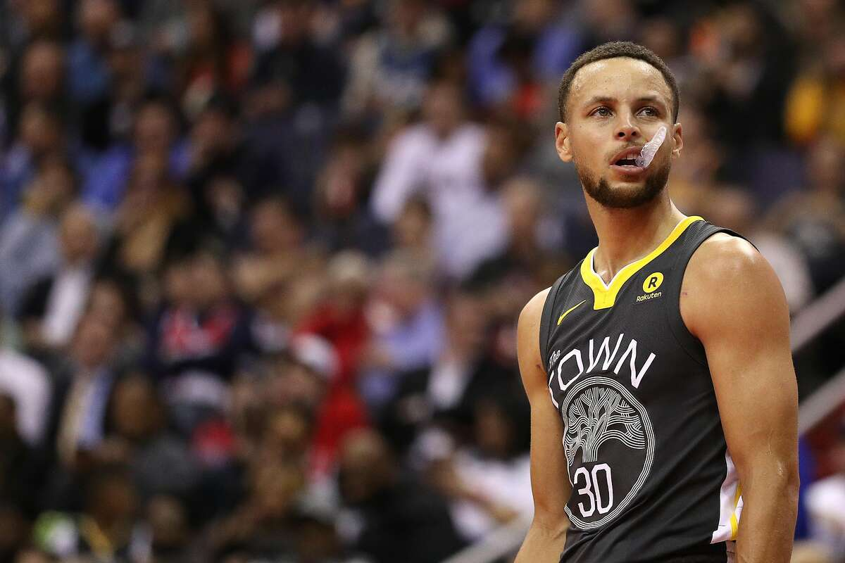 Stephen Curry during a game against the Washington Wizards on February 28, 2018 in Washington, DC.