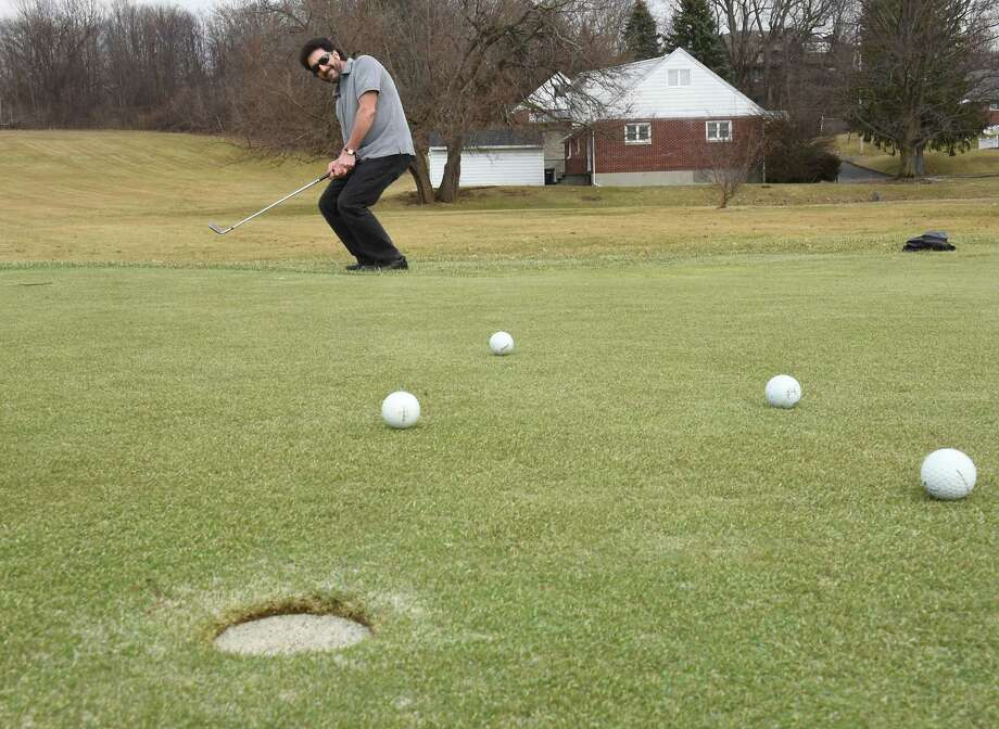 Frank Sorriento of Brunswick practices his short game at Frear Park Municipal Golf Course on Wednesday, Feb. 28, 2018 in Troy, N.Y. (Lori Van Buren/Times Union) Photo: Lori Van Buren