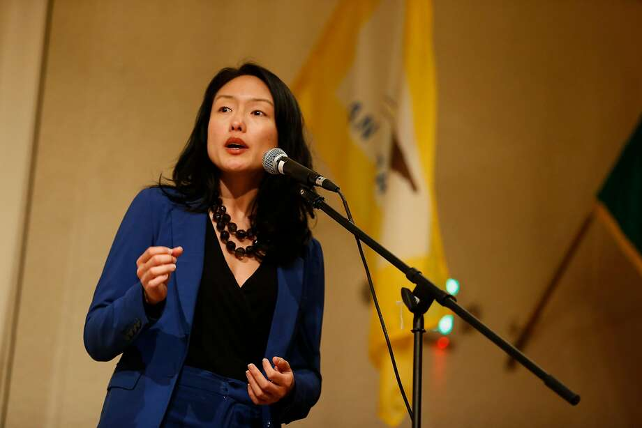 San Francisco Supervisor and mayoral candidate Jane Kim speaks during a roundtable discussion at the United Irish Cultural Center in San Francisco, Calif. on Wednesday, Feb. 28, 2018. Photo: Stephen Lam, Special To The Chronicle