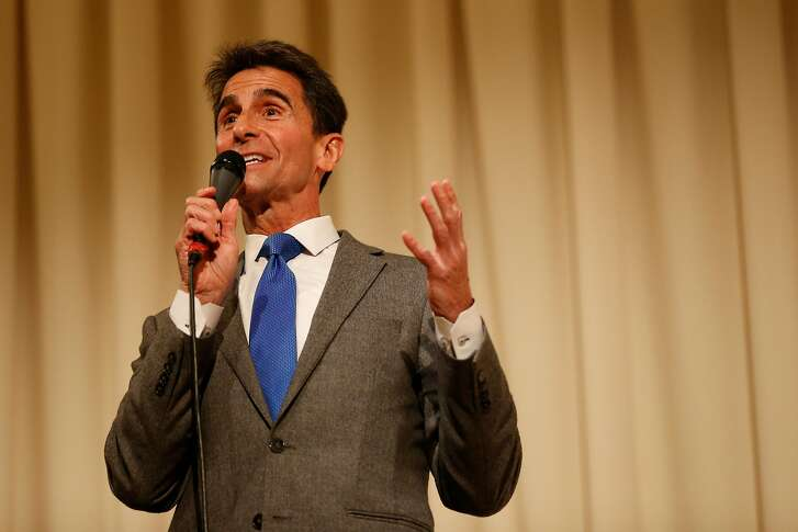 San Francisco mayoral candidate and former California State Sen. Mark Leno (D-San Francisco) speaks during a roundtable discussion at the United Irish Cultural Center in San Francisco, Calif. on Wednesday, Feb. 28, 2018.