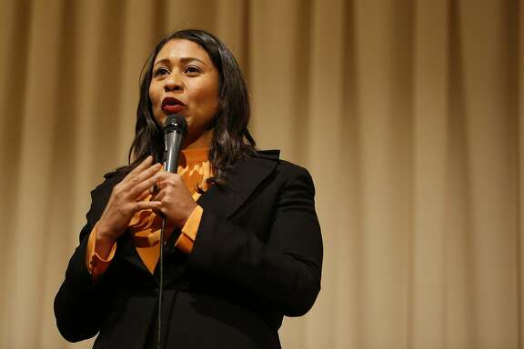 London Breed, President of the San Francisco Board of Supervisors and mayoral candidate, speaks during a roundtable discussion at the United Irish Cultural Center in San Francisco, Calif. on Wednesday, Feb. 28, 2018.