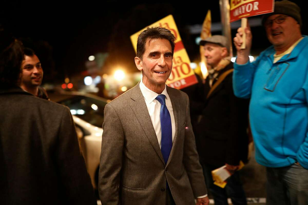 Mayoral candidate and California State Sen. Mark Leno (D-San Francisco) arrives for a roundtable discussion at the United Irish Cultural Center in San Francisco, Calif. on Wednesday, Feb. 28, 2018.