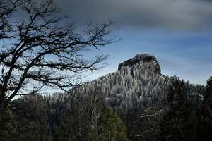 Pilot Rock in the Cascade-Siskiyou National Monument outside of Ashland, Oregon, on Tuesday, February 20, 2018. The monument was expanded in the final year of the Obama administration and now under the Trump administration, the park is at risk of being reduced.