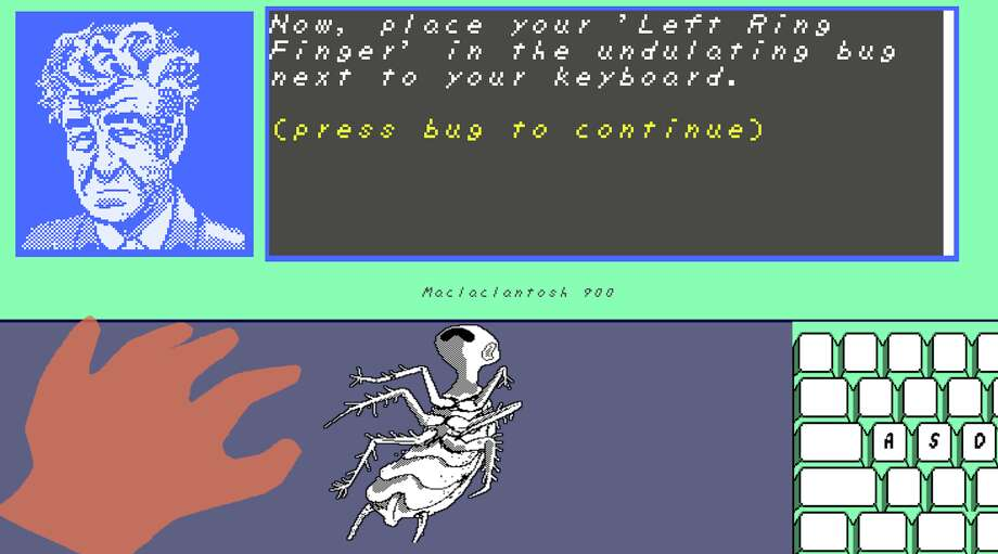 Learn to type, the David Lynch way! A free game for Mac, Windows and Linux from Rhino Stew Productions. Photo: Rhino Stew Productions / Chronicle Screenshot