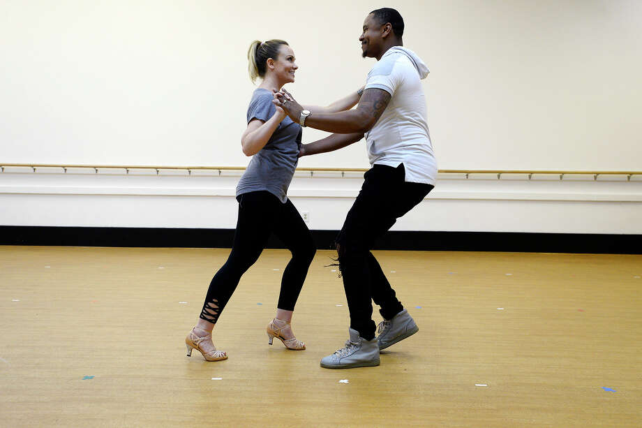 Beth Rogers and AJ Turner rehearse their routine for Dancing with the Stars of Southeast Texas at City Dance Center.  Photo taken Wednesday 2/14/18 Ryan Pelham/The Enterprise Photo: Ryan Pelham / ©2017 The Beaumont Enterprise/Ryan Pelham