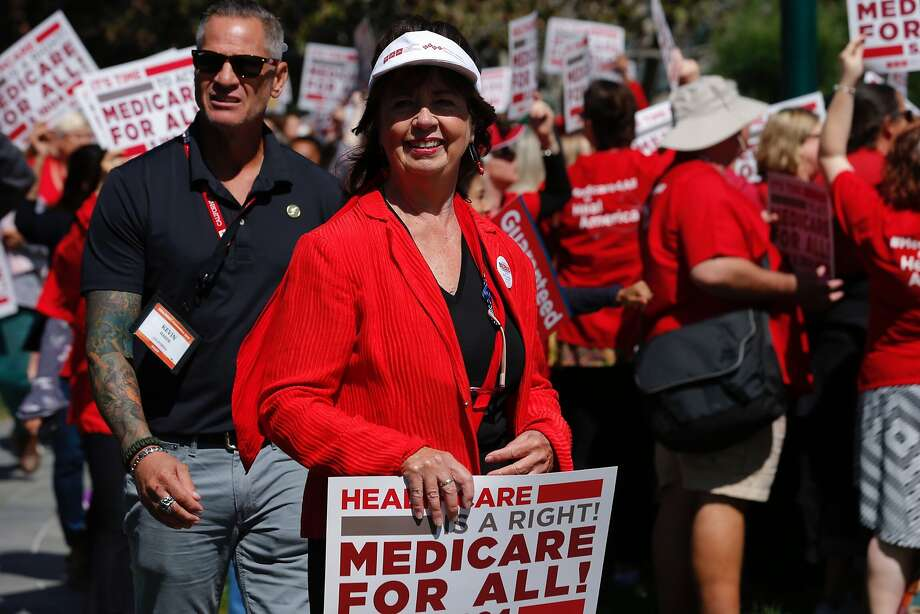 RoseAnn DeMoro attends a rally in San Francisco last year. Photo: Santiago Mejia, The Chronicle