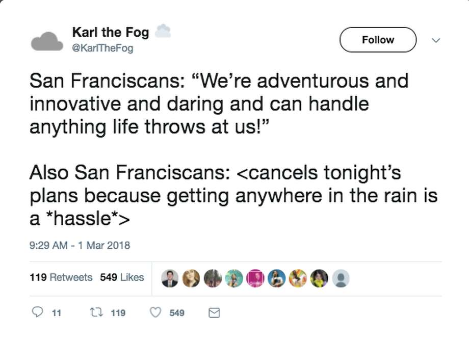 Bay Area residents reacted strongly to one of the bigger storms seen in 2018. Photo: Twitter Screenshot