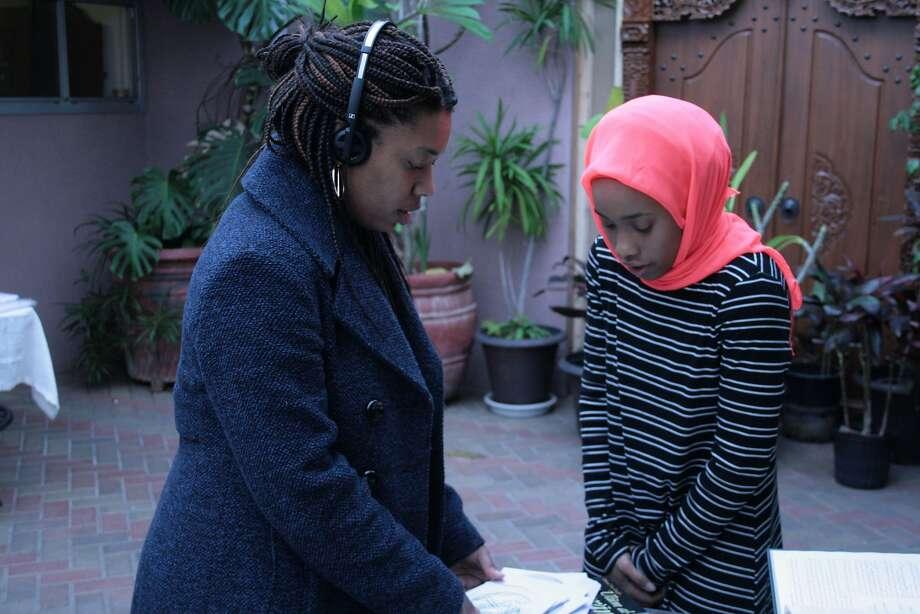"East Bay filmmaker Nijla Mu'min (left) directs Zoe Renee in a scene for ""Jinn,"" which premieres Sunday, March 11, at South by Southwest. Photo: Photo By Craig Carpenter, Courtesy Of Nilja Mu'min."