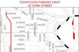 BPD Map for 2018 Gusher Event: Access to Downtown Parking West of Park Street