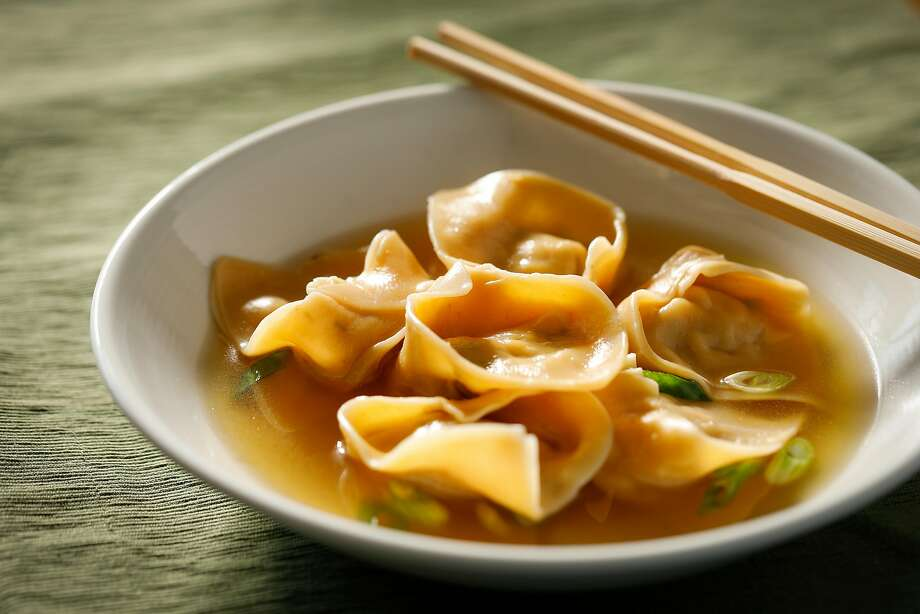Brandon Jew's Whole Chicken Wontons in Broth. Photo: Russell Yip, The Chronicle