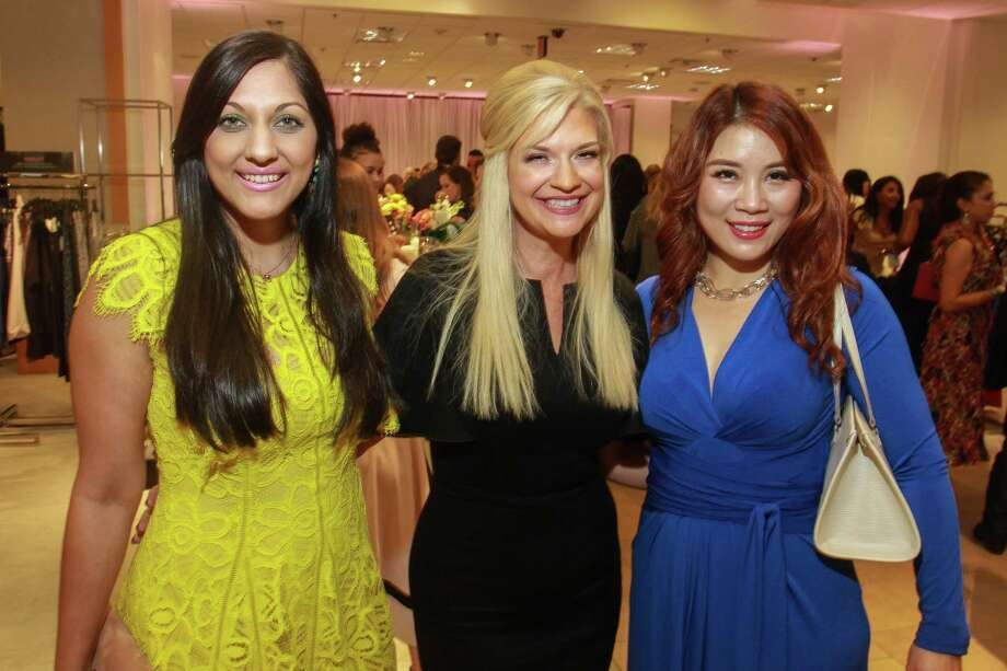 Sippi Khurana, from left, Tammie Anne Johnson and Christina Zhou at the Dress for Dinner event at Neiman Marcus. Photo: Gary Fountain, For The Chronicle/Gary Fountain / Copyright 2018 Gary Fountain
