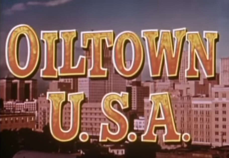 "The Houston skyline, as it looked in 1953, figures prominently in the opening of ""Oiltown, U.S.A."""