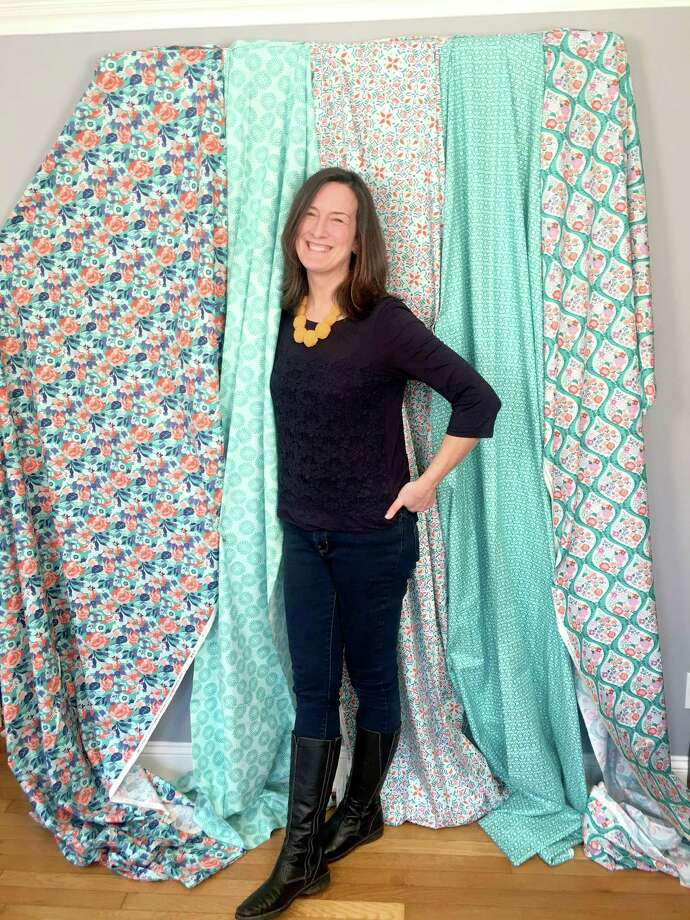 Bridgeport designer Kate Spain poses in her Black Rock studio. Photo: Lee Steele / Hearst Connecticut Media