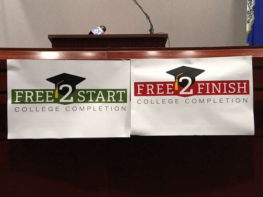 Free college plan plugged in Hartford. Photo: Linda Conner Lambeck /