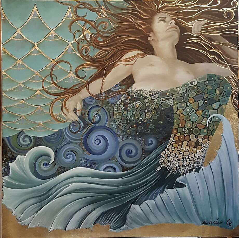 """Bliss,"" by Teri Vereb. Vereb is one of five local artists featured in Madrigal Family Winery's ""Women who Paint Women"" exhibition, through April 14. Photo: Don Seymore"