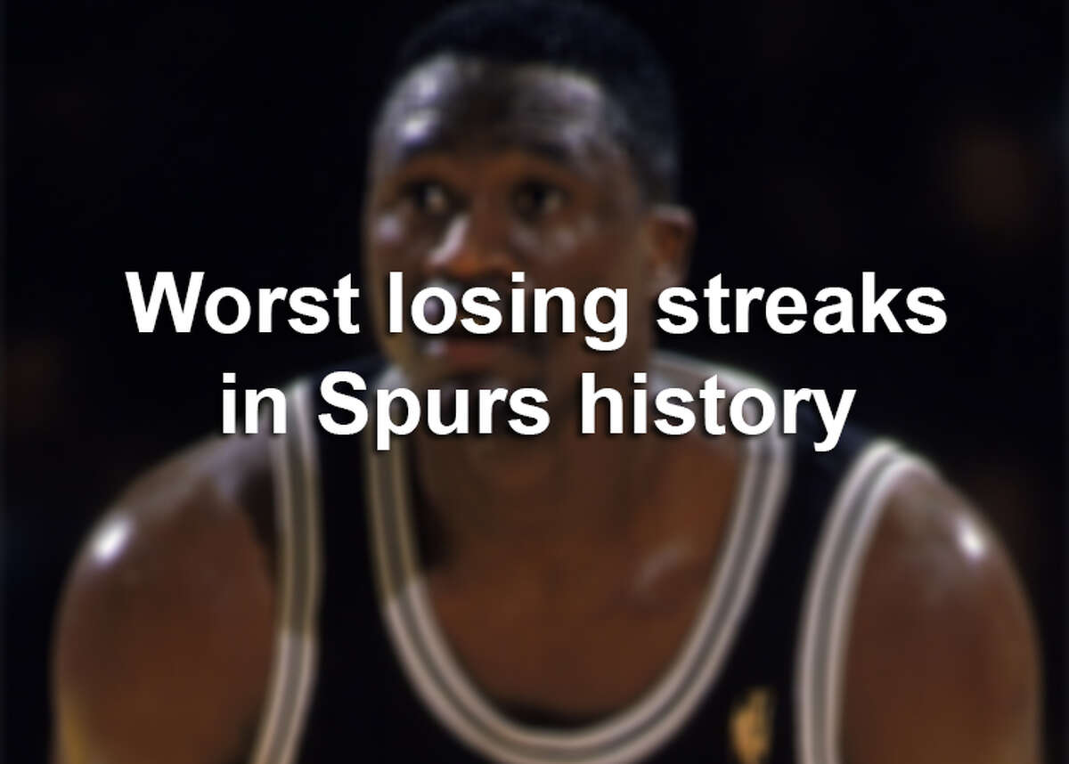 No Spurs season is free of challenges, but some were bigger struggles than others. Click ahead to see the worst losing streaks in Spurs history.