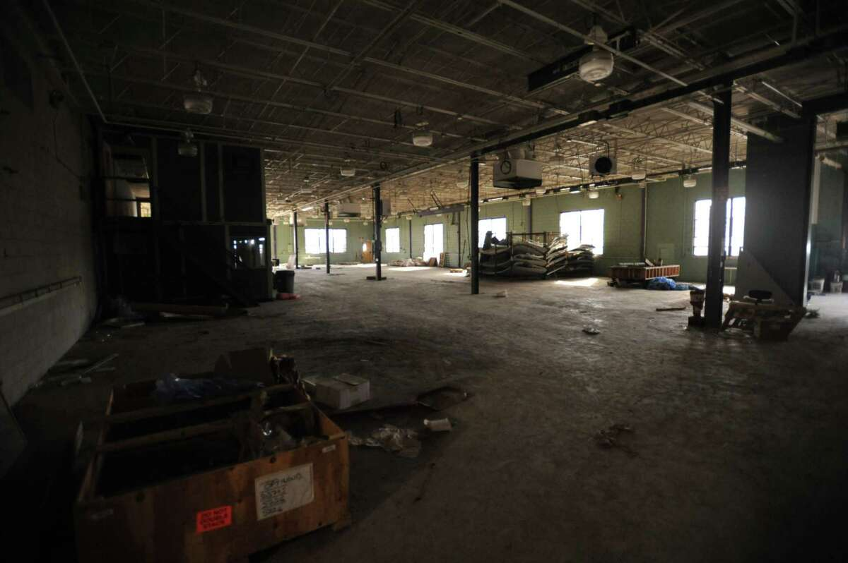New Opportunities Inc. is planning to establish an aquaponics farm in a warehouse on Field Street in Torrington. Above, the current state of the space.