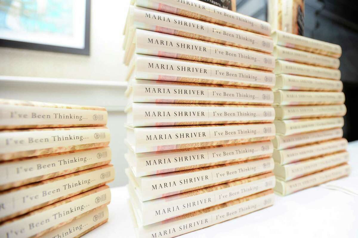 """Maria Shriver's newest book, """"I've Been Thinking..."""" was given to everyone in attendance at the luncheon hosted by the Center for HOPE at the Country Club of Darien in Darien, Conn. on Thursday, Mar. 1, 2018."""