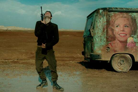 "Itay Exlroad as an Israeli soldier in the new movie ""Foxtrot,"" written and directed by Samuel Maoz"