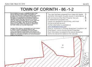 A 171-acre parcel off Route 10 and Route 9N in the town of Corinth is among the properties scheduled to be sold at a March 20 auction. (Saratoga County Real Property Tax Services map)