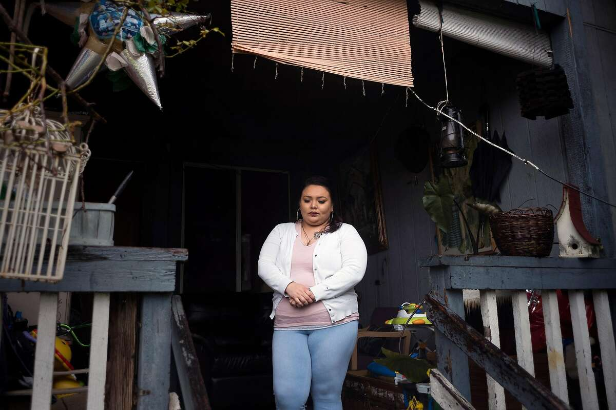 Brenda Manzo-Garcia photographed at her family home in Napa, CA on March 1, 2018. Manzo-Garcia's father, 55-year-old Napa resident Jesus Manzo Ceja, was swept up in a recent ICE immigration crackdown that resulted in some 150 Northern California immigrants being arrested.