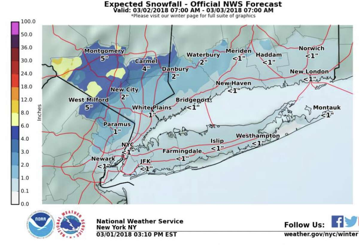 With a strong nor'easter expected late Thursday and Friday, the National Weather Service has posted a flood and high wind watch and a coastal flood advisory.