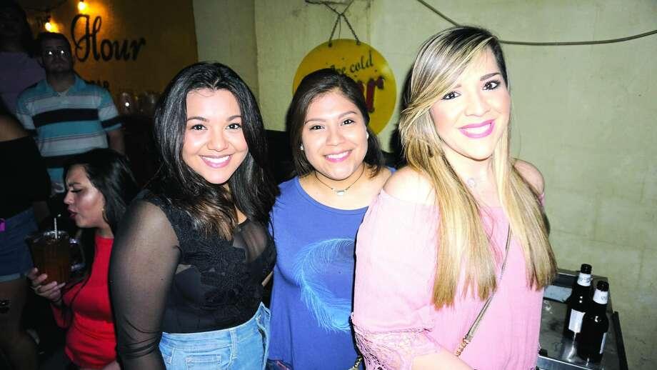 Alejandra Nino, Jessica Quintana and Isamari Canizalez at The Happy Hour Downtown BarFriday, March 2, 2018 Photo: Jose Gustavo Morales