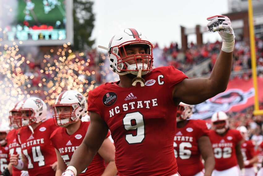 2. New York Giants  McClain: Bradley Chubb, DE, North Carolina State (pictured)  Wilson: Saquon Barkley, RB, Penn State