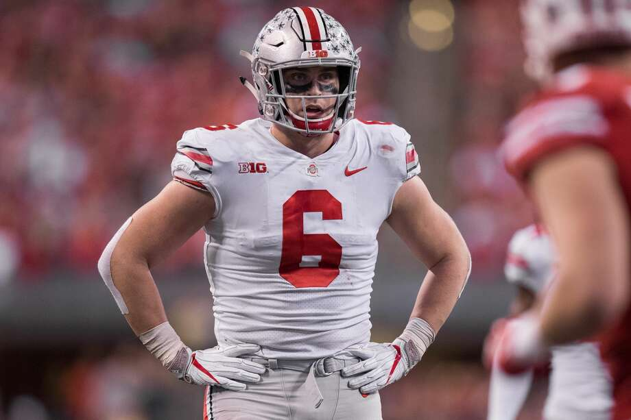 Ohio State defensive end Sam Hubbard, during the Big 10 title game, is a potential early round pick. Photo: Icon Sportswire/Icon Sportswire Via Getty Images